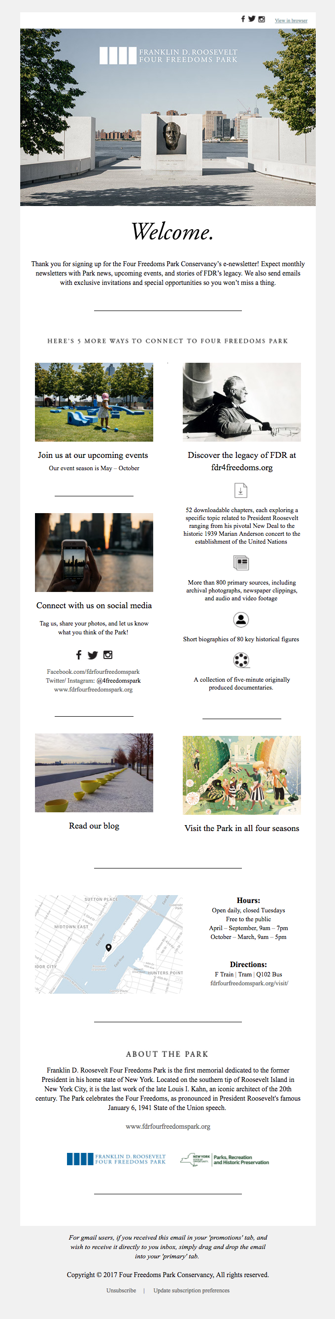 5 Ways to Connect to Four Freedoms Park