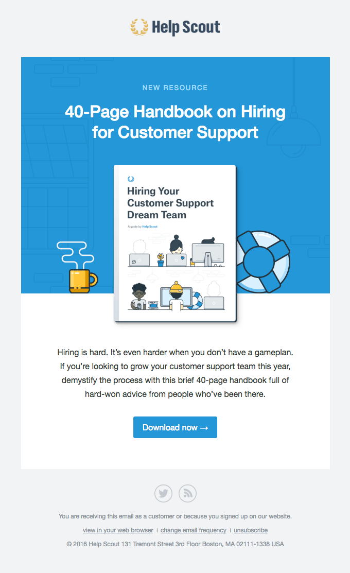 A free handbook on hiring for support! 💌