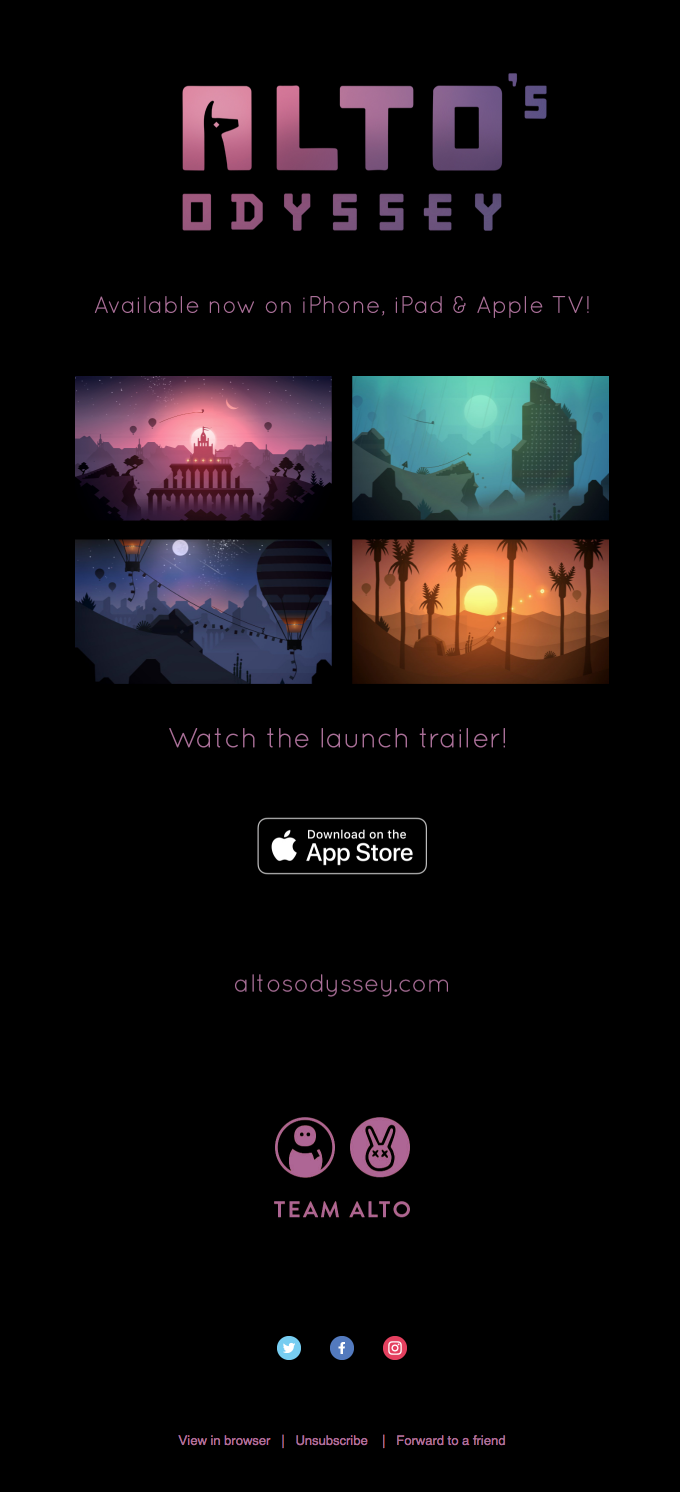 Alto's Odyssey is now available on the App Store!