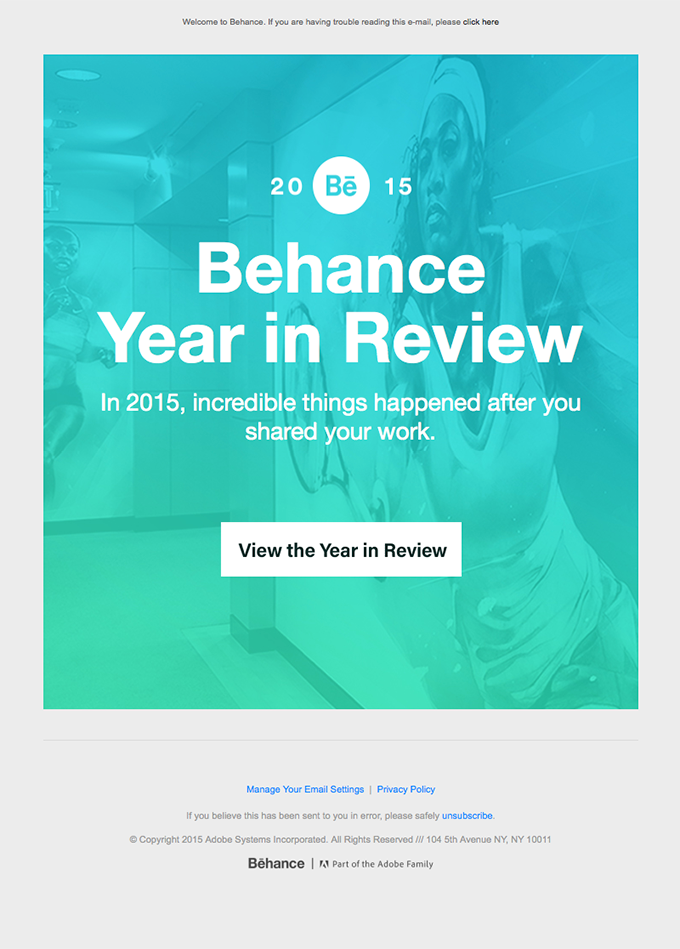 Behance Year In Review: Creativity in 2015