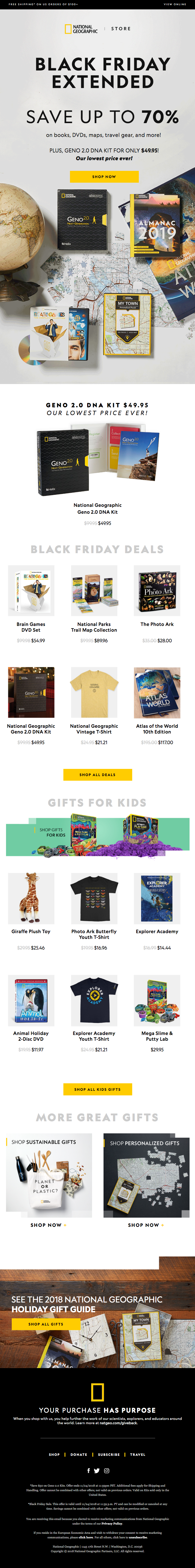 Black Friday Extended – Geno 2.0 for only $49.95 | Save up to 70% on Nat Geo gifts!