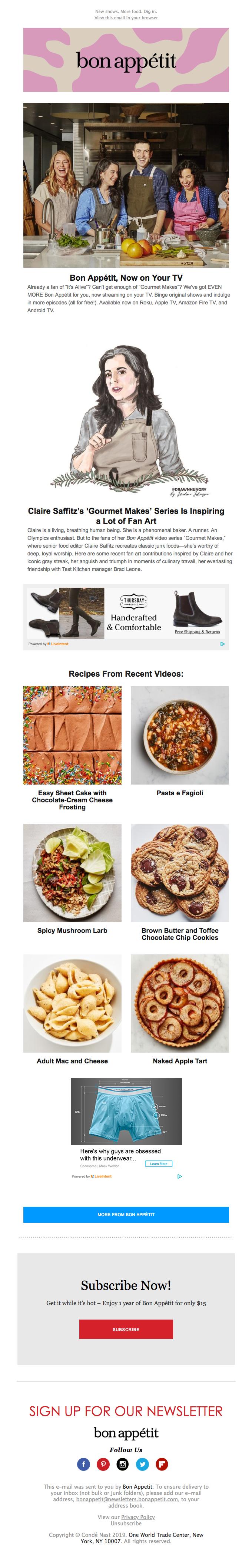 Bon Appétit Is Now On Your TV!