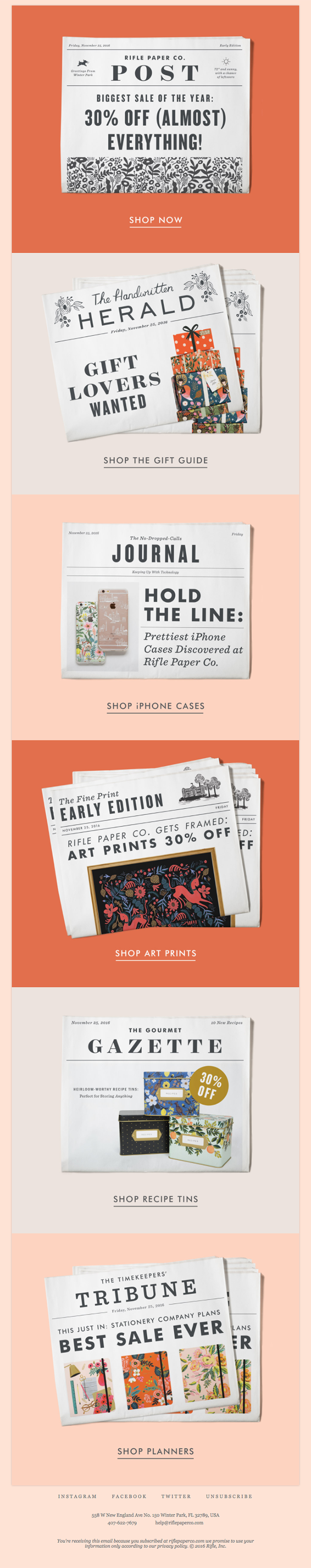 Breaking News: 30% Off (Almost) Everything