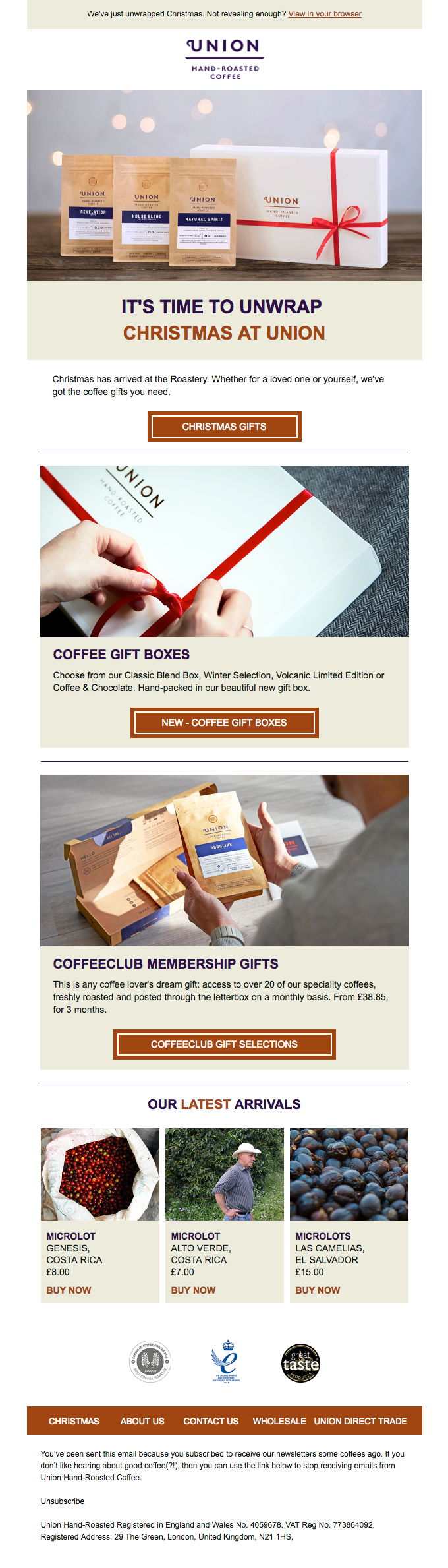 Choose From Our All New Selection of Coffee Gifts