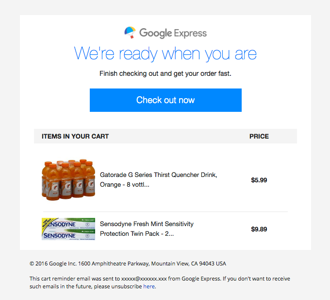 Complete your order with Google Express