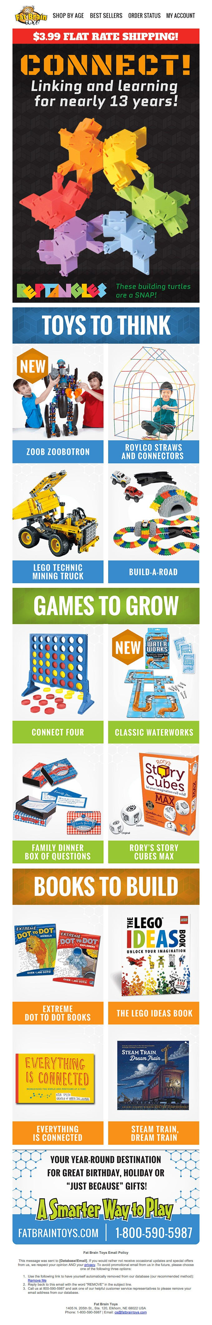 CONNECT! Linking and learning for nearly 13 years. Over 8000, innovative and original toys & games.