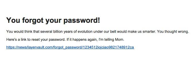 Designer News Password Reset