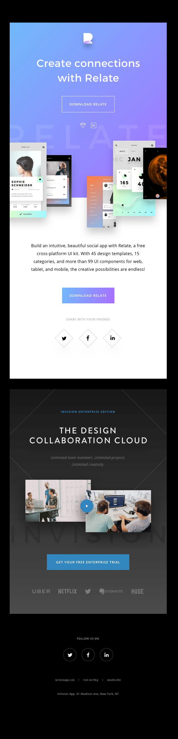 Download Relate, a free UI kit from InVision