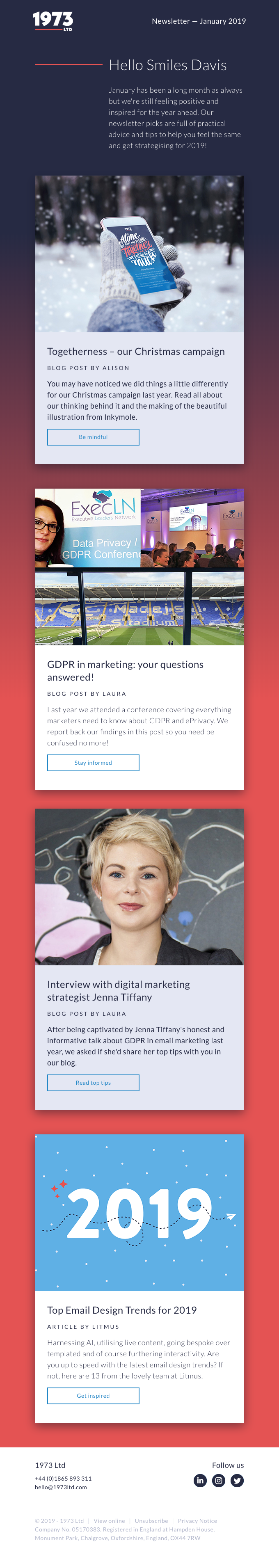 Email marketing tips and trends for 2019