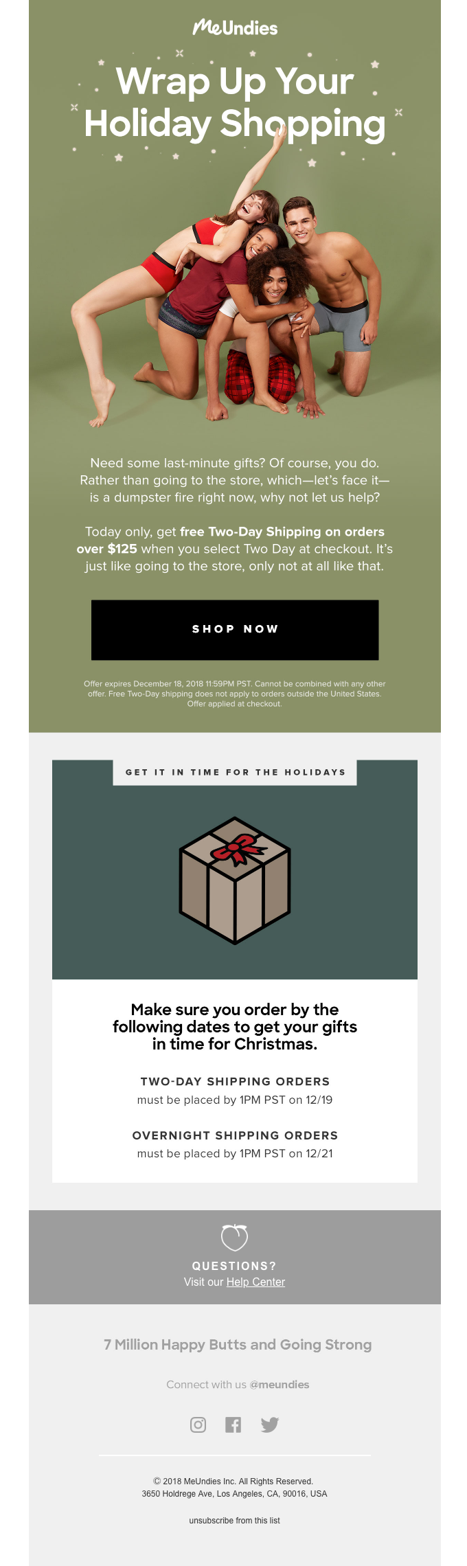Free Two-Day Shipping on Orders Over $125