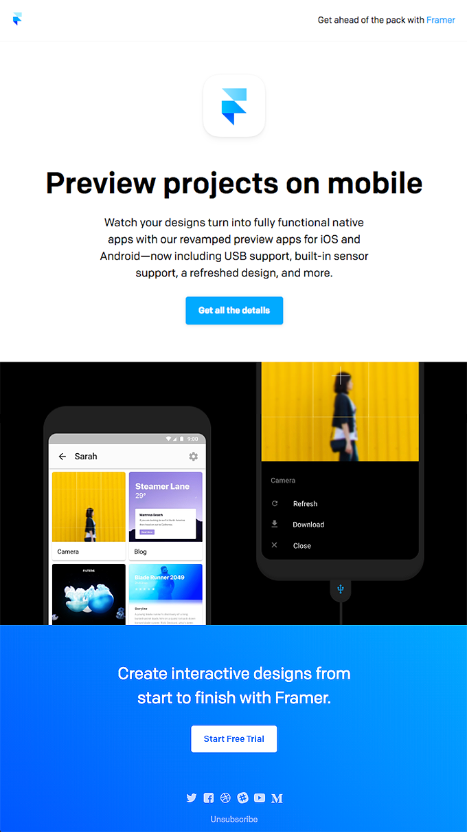 Get the new Framer Preview apps
