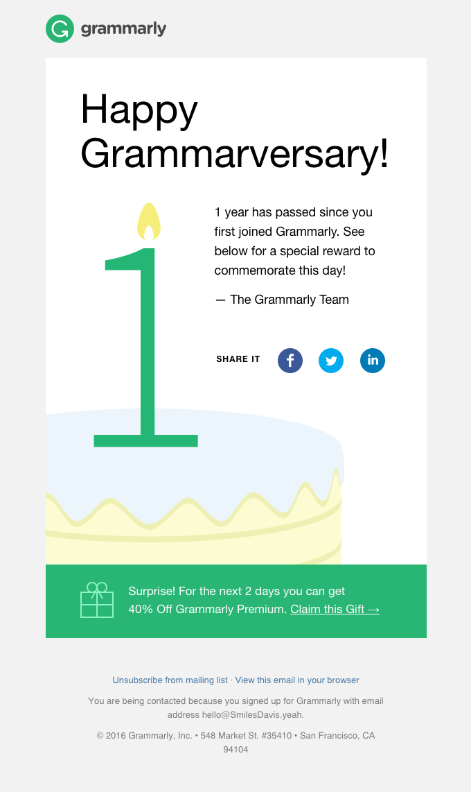 Happy Grammarversary!