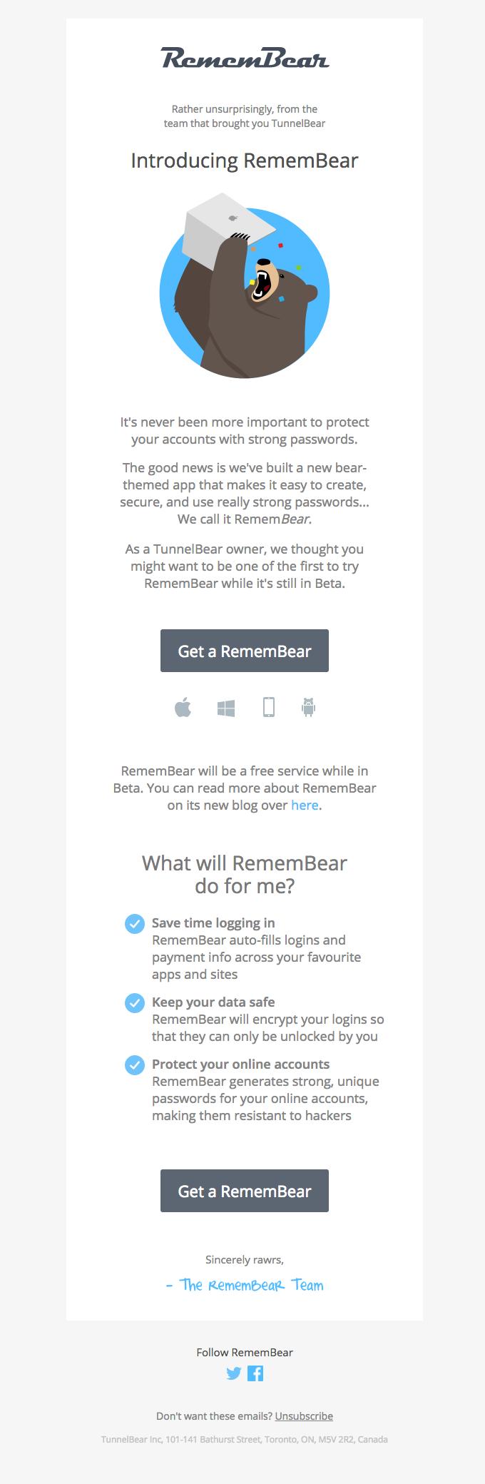 Introducing a new Bear…