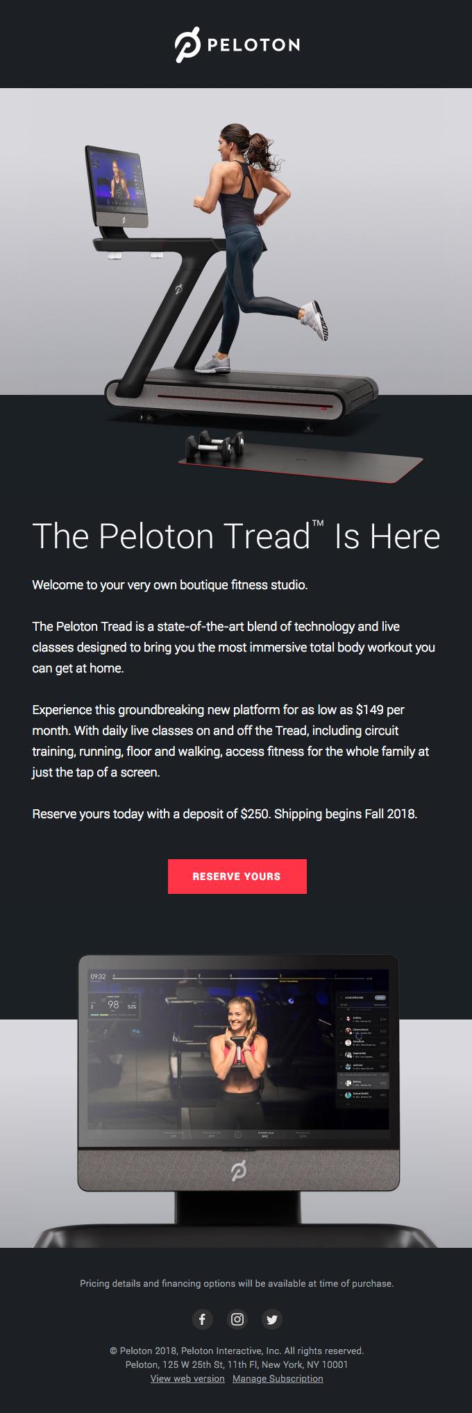 Introducing the Peloton Tread™
