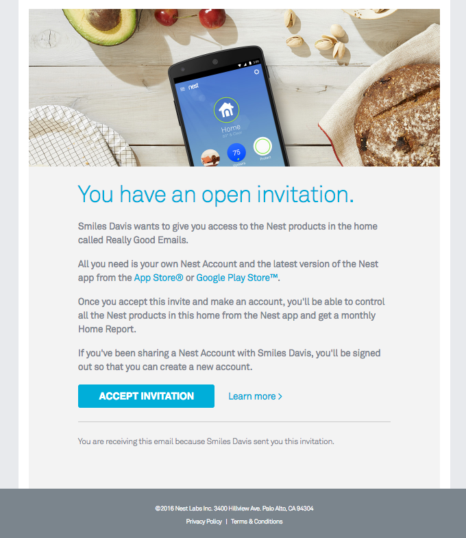 Join the Nest home of Really Good Emails