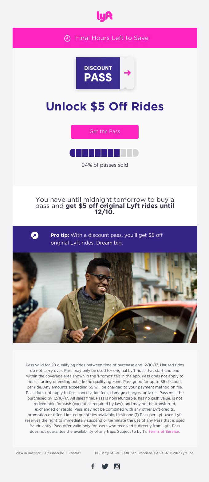 Last chance! Unlock $5 off rides.