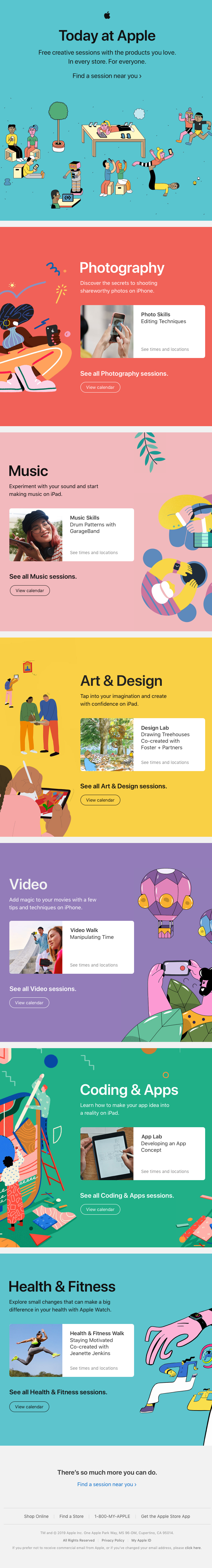 Learn, create, and be inspired at the Apple Store.