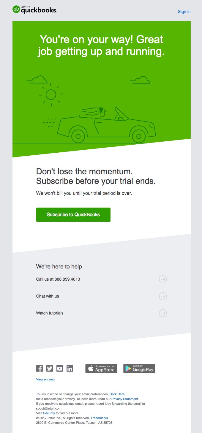 Lock in your progress. Subscribe to QuickBooks today.