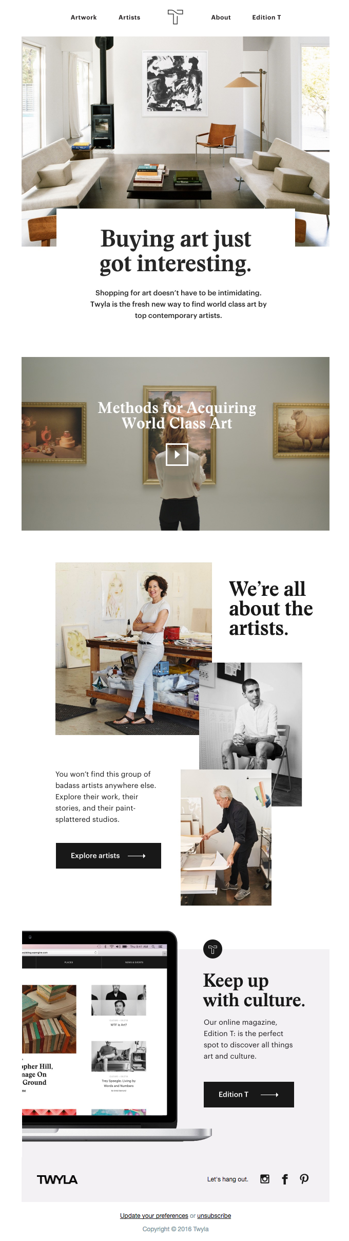 Meet Twyla, a new way to buy art.