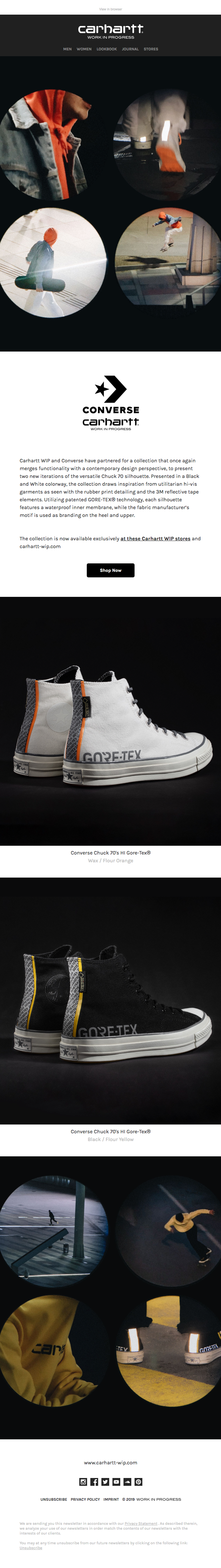 Now Live: Converse for Carhartt WIP Stores Exclusive