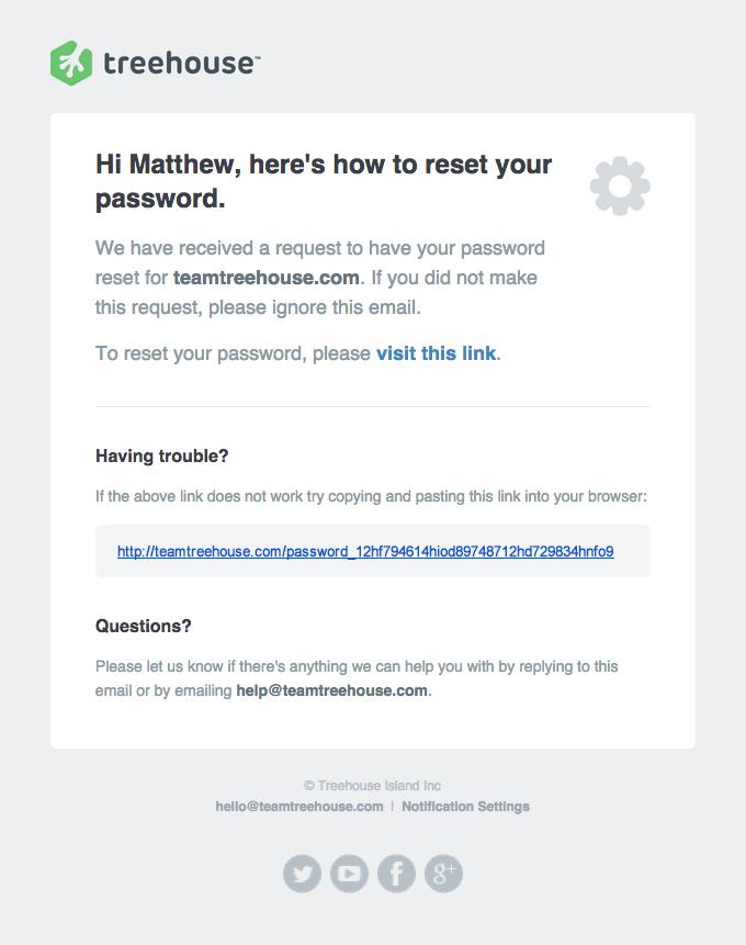 Password Reset Instructions