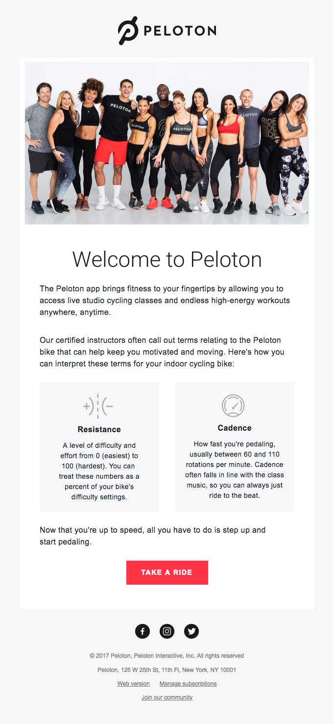 Peloton: Welcome to the Peloton app
