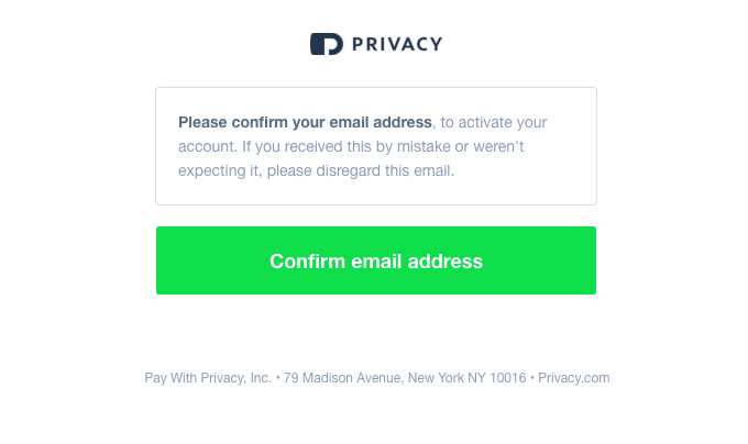 Please confirm your email address