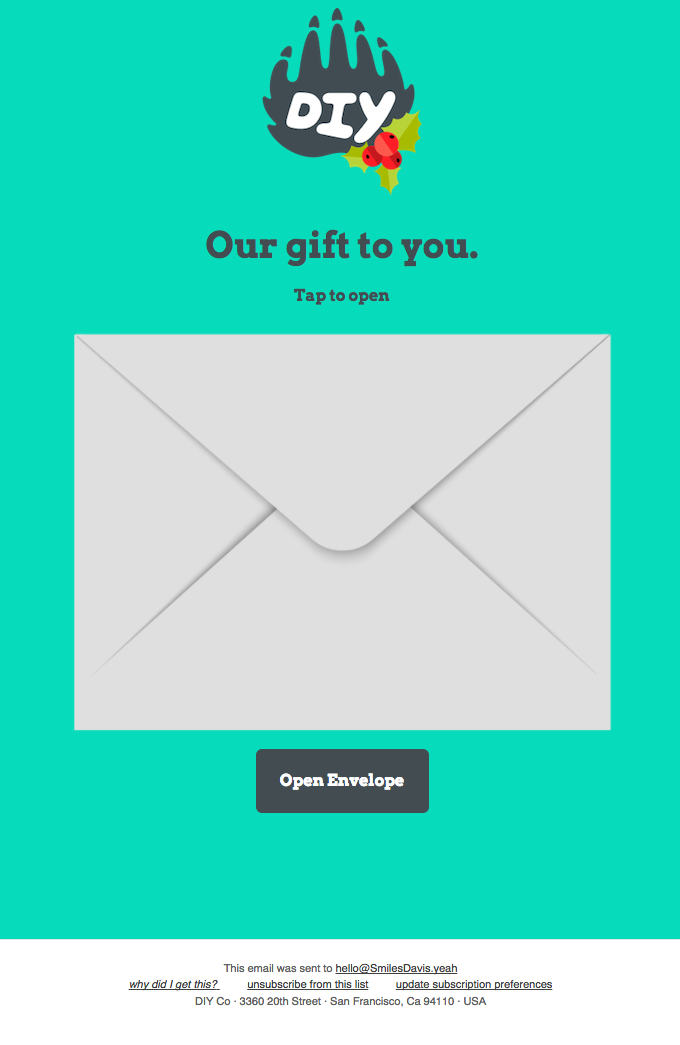 re: your gift