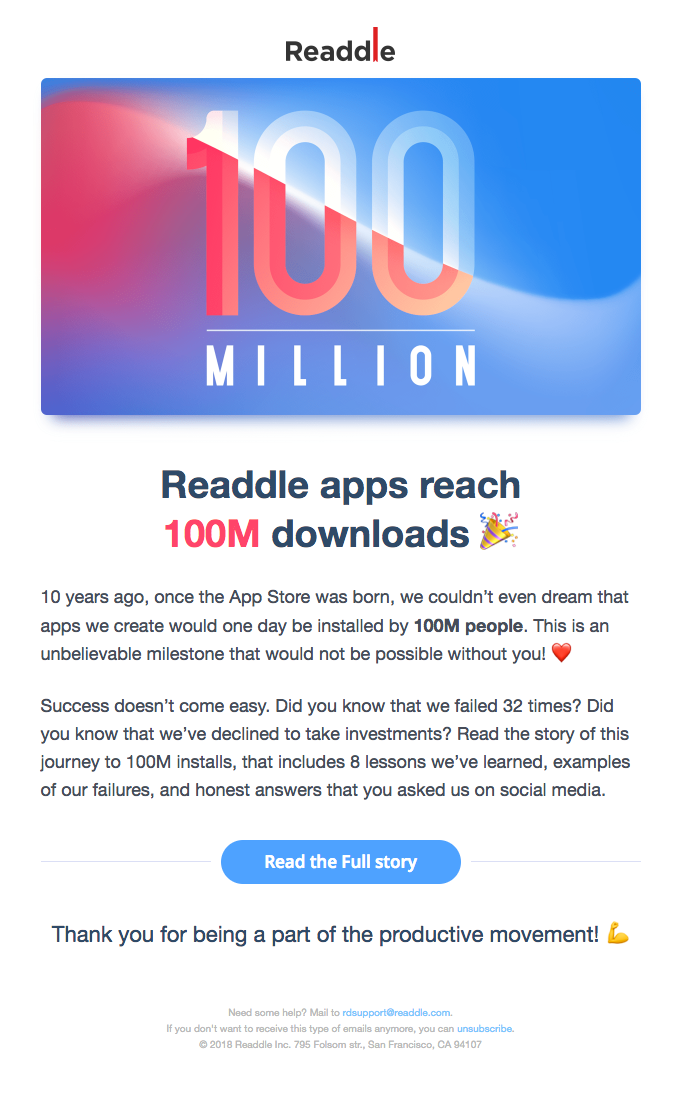 🚀 Readdle apps reach 100M downloads