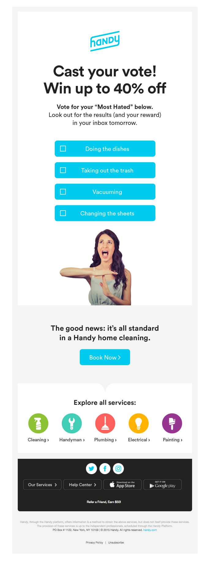 Really Good Emails, what do you hate most about cleaning?