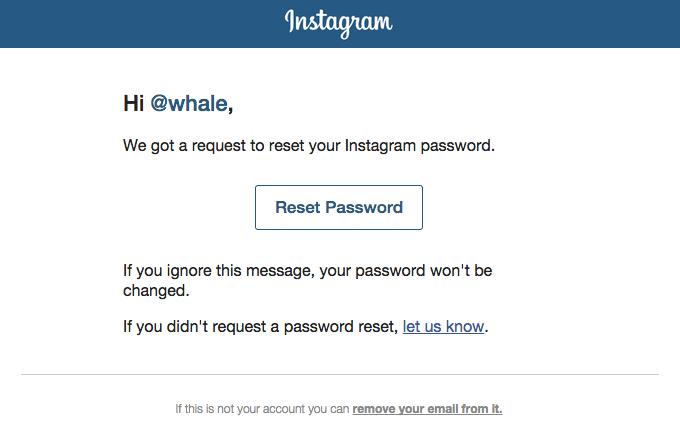 Reset Your Password