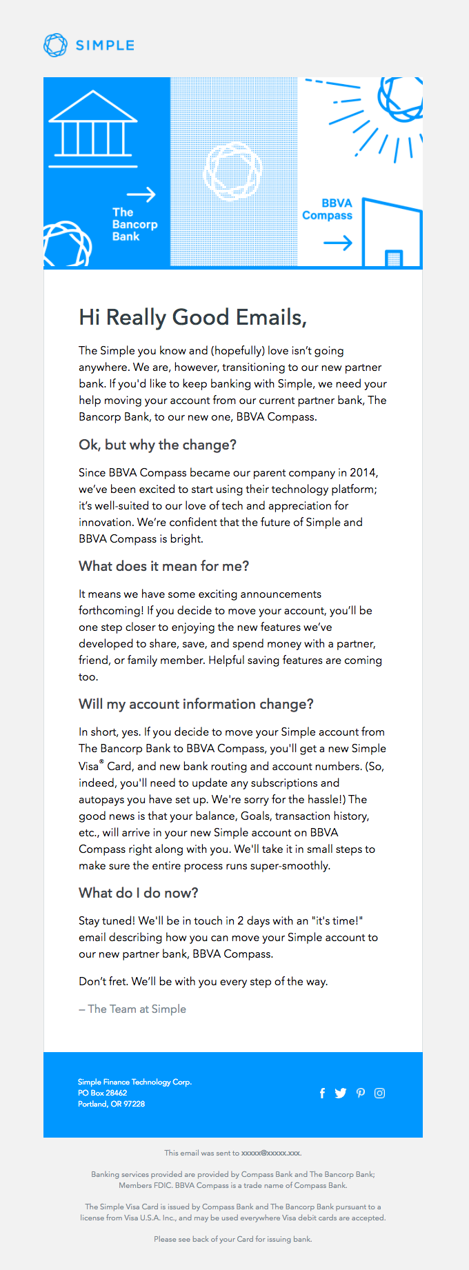 Simple + BBVA Compass: we're moving!