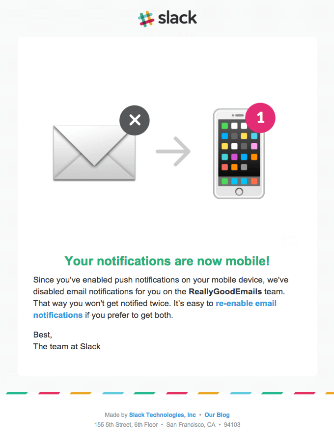 [Slack] Mobile push enabled / Email notifications disabled