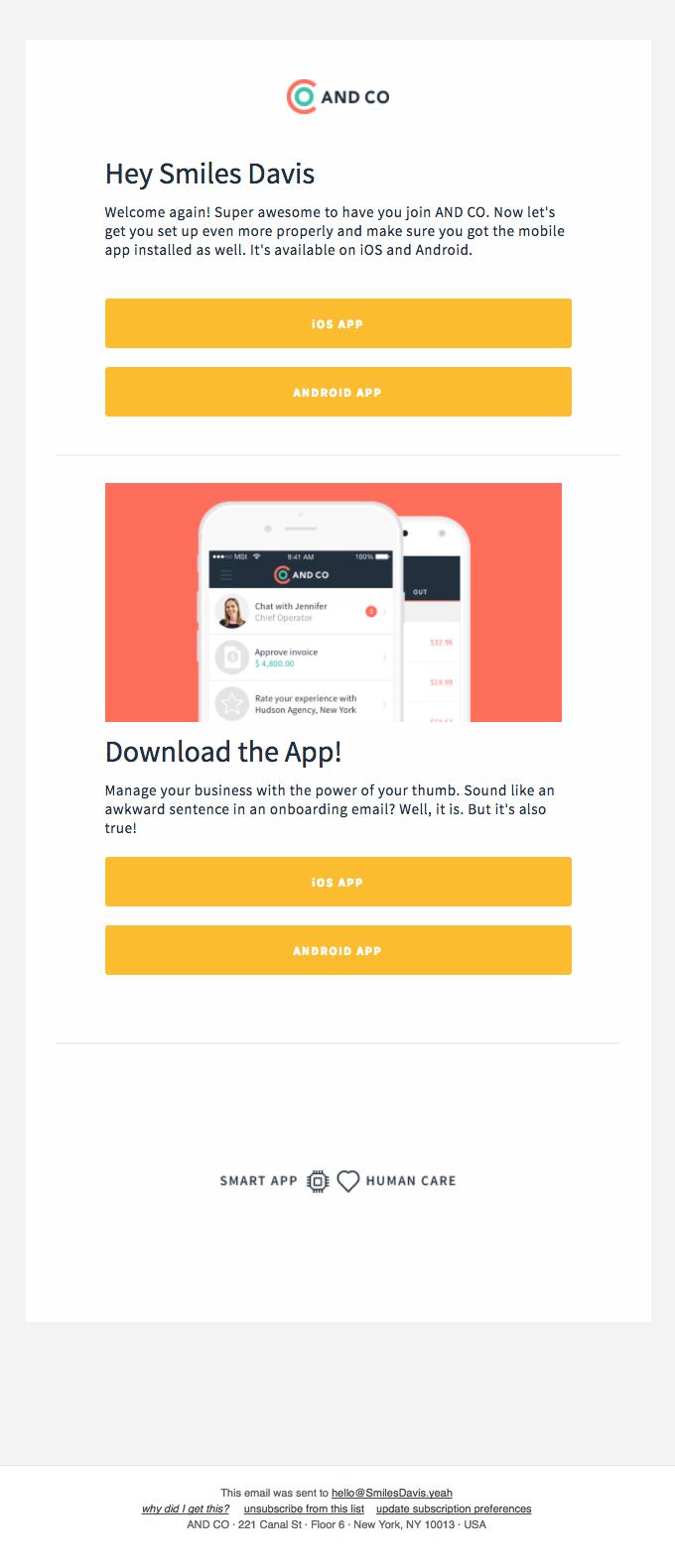 Smiles Davis, download the free app! ⚡⚡