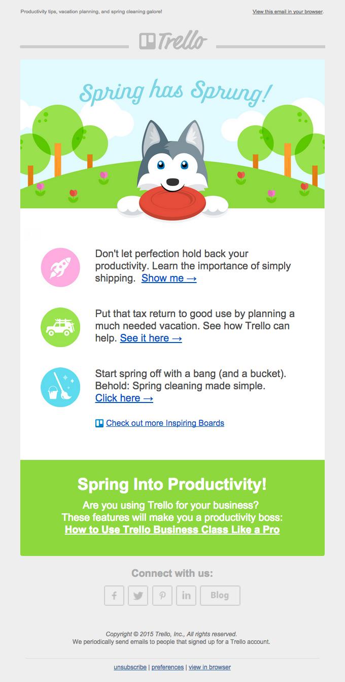 Spring Has Sprung With Trello!