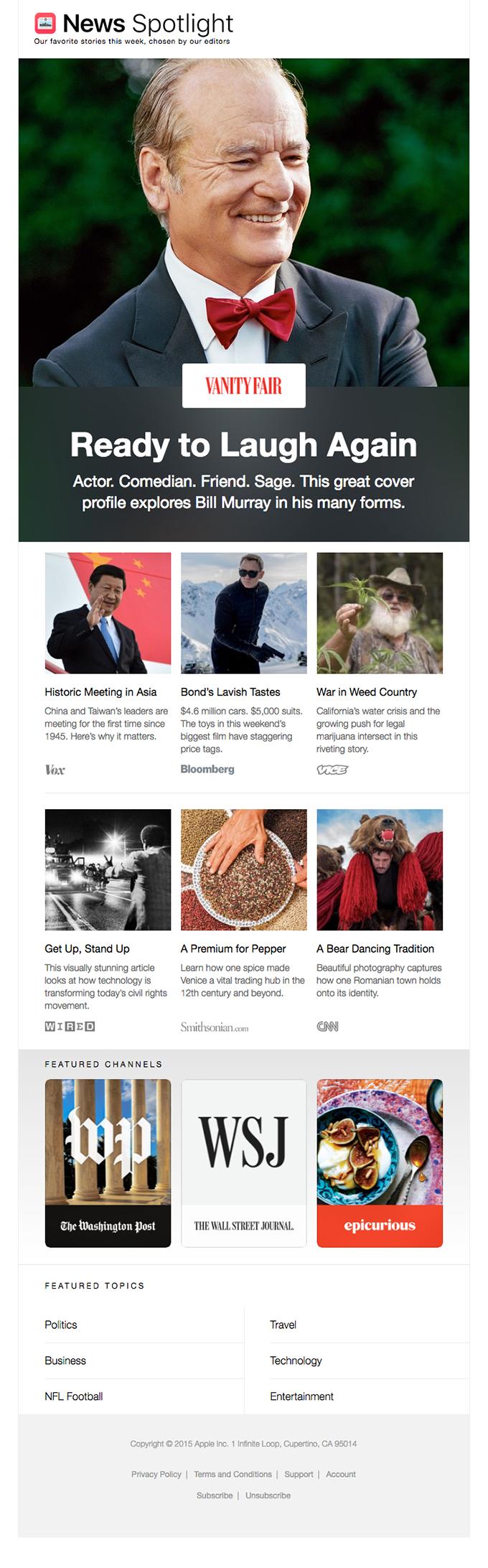 Stories on Bill Murray, Asian Politics and Bear Dancing