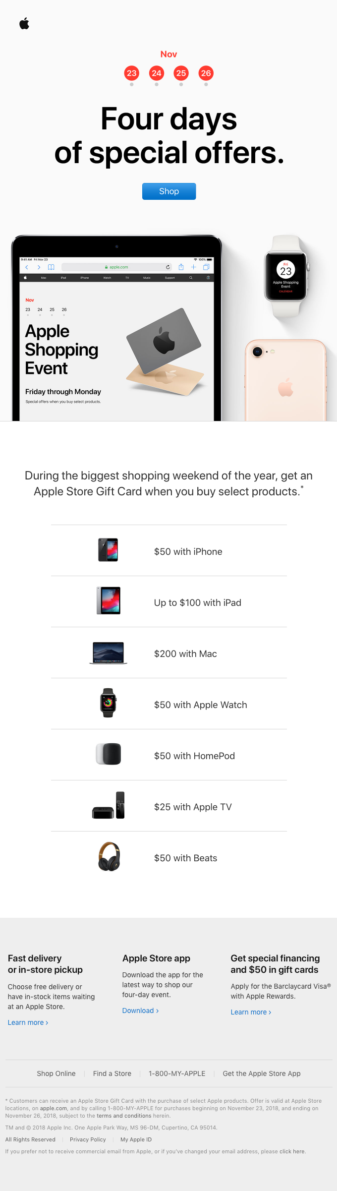 The Apple Shopping Event. Now through Monday