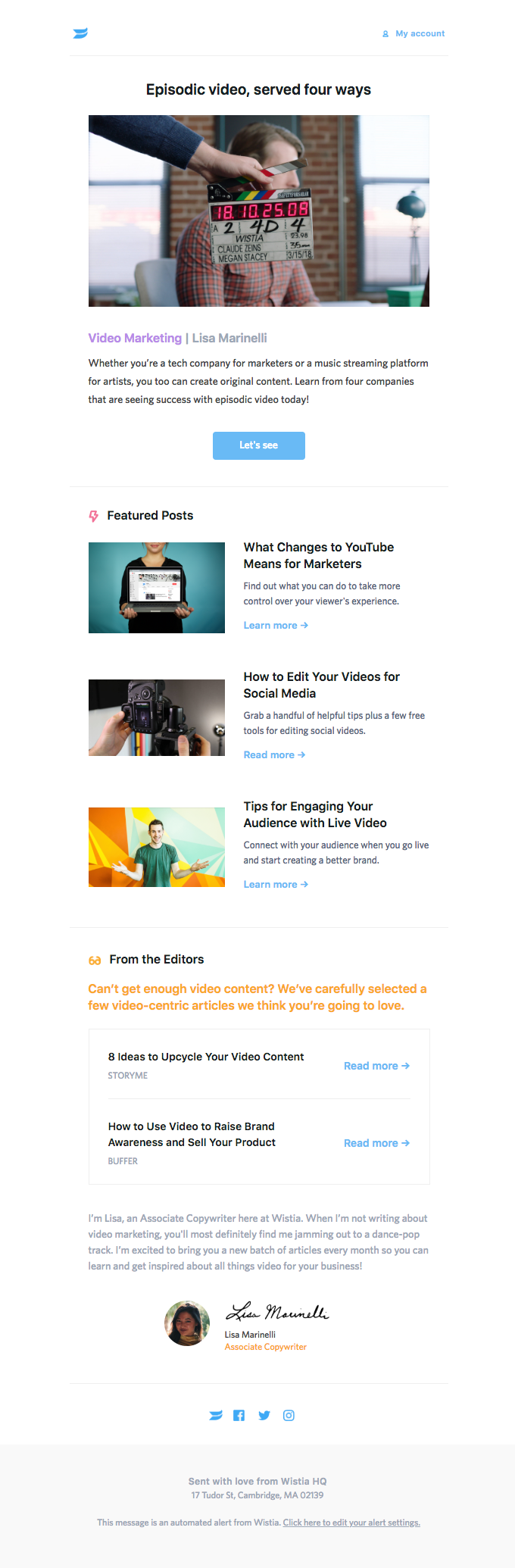 The January Wistia Content Roundup: Fresh video marketing insights to help you stay ahead.