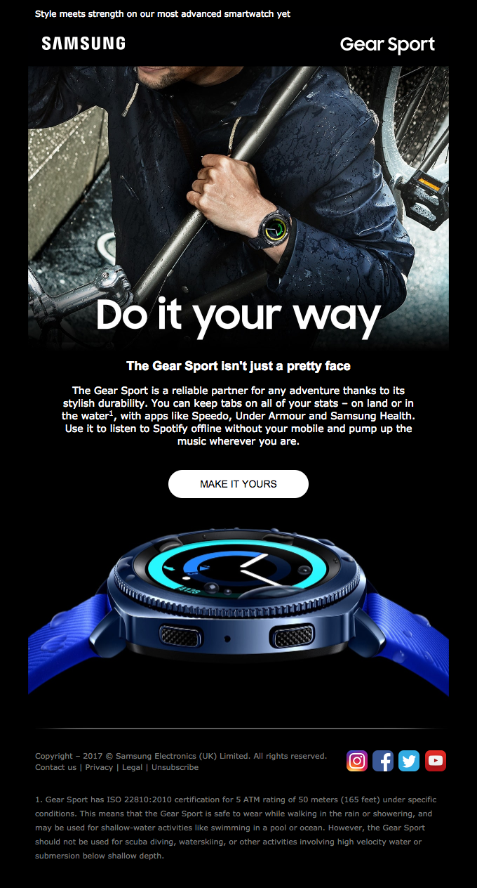 There's more to the Gear Sport | Really Good Emails