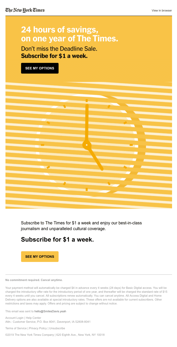 Today is the Deadline Sale. Tomorrow it's over.