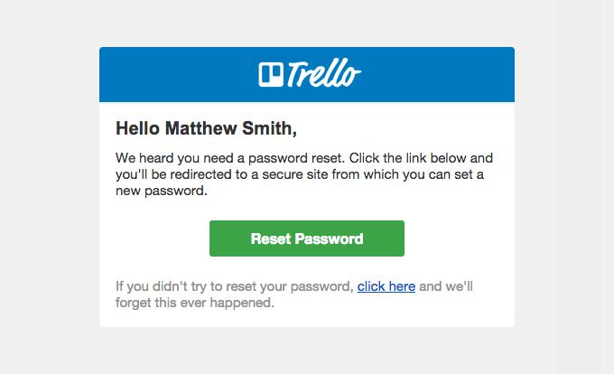 Trello Password Reset