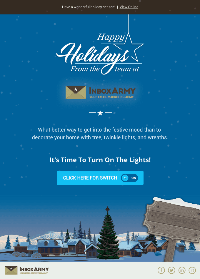 Turn On The Lights! Happy Holidays From InboxArmy