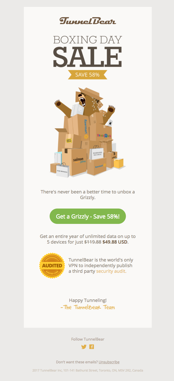 Unbox a Grizzly… Save 58%!