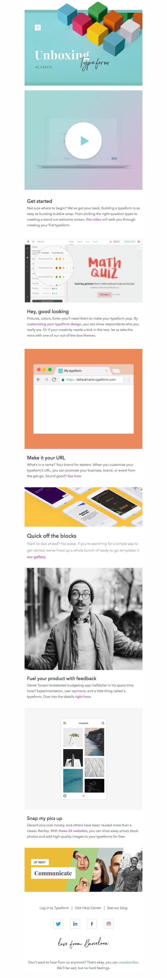 Unboxing Typeform: Create (1 of 4)