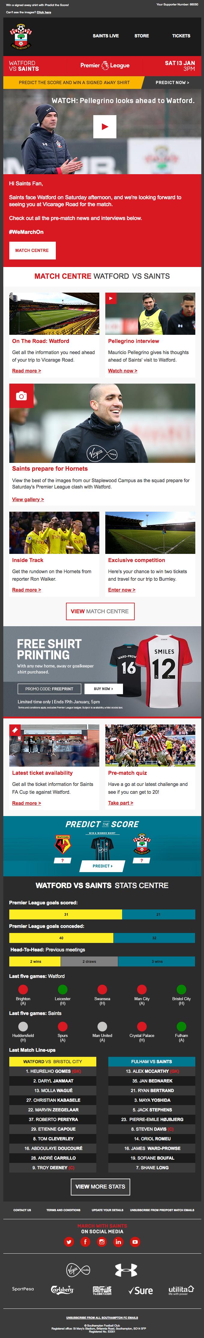 Watford vs Saints: Your preview ⚽️