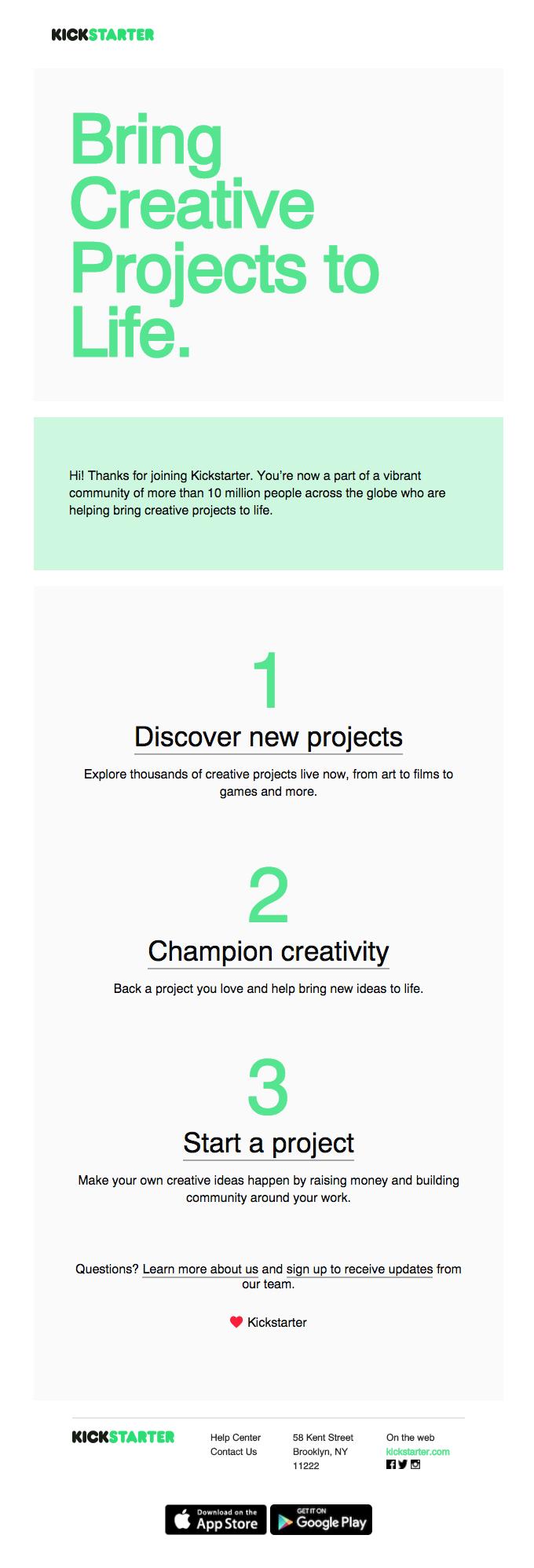 Welcome to Kickstarter!