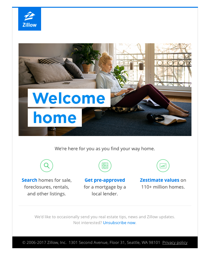 Welcome to Zillow – We're Glad You're Here!