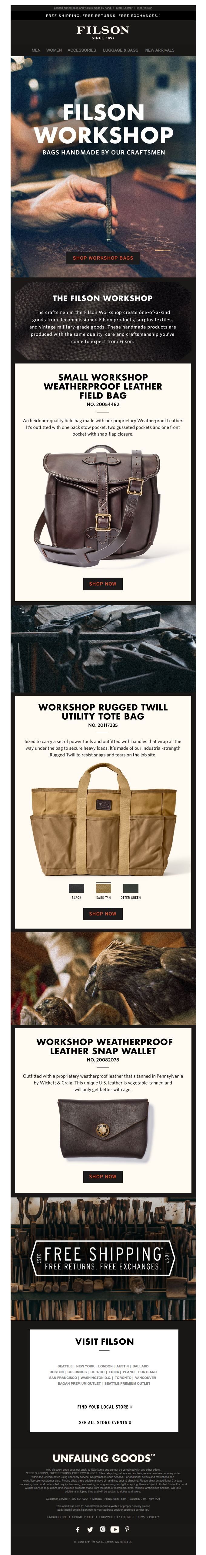 Workshop Bags: Craftsman-Made Goods