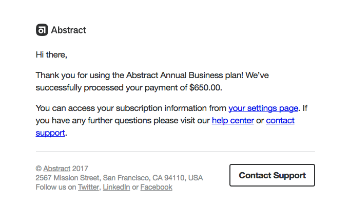 Your Abstract Payment Confirmation