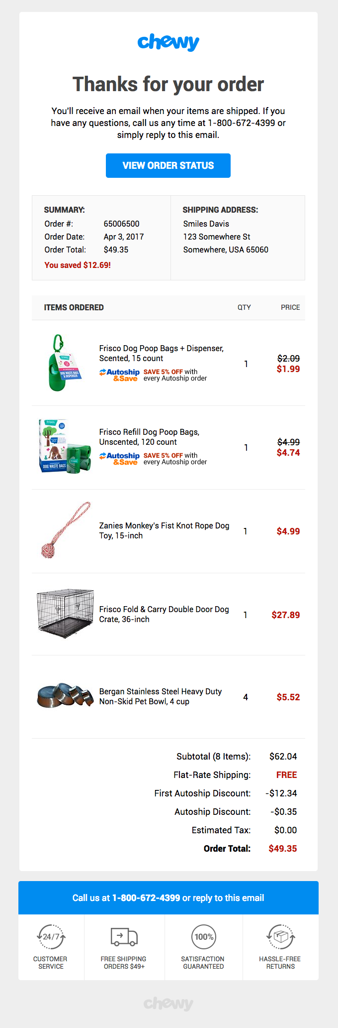 Your order with Chewy.com (http://chewy.com/)